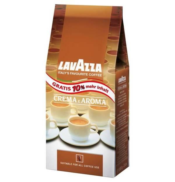 Lavazza             Espresso Crema e Aroma ganze Bohnen 1000 g plus GRATIS 10 Prozent