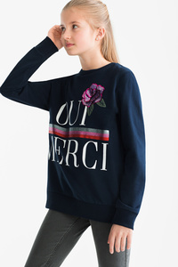 Here and There         Sweatshirt - Bio-Baumwolle