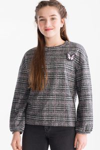 Here and There         Pullover - kariert