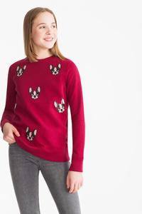 Here and There         Sweatshirt - Bio-Baumwolle - Glanz Effekt