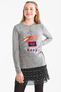 Here and There         Pullover - Feinstrick - Glanz Effekt