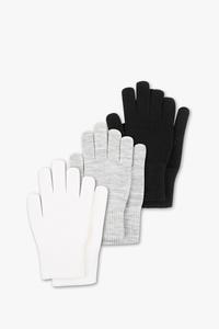 Handschuhe - Feinstrick - 3 Paar