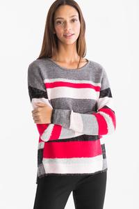 Canda         Pullover - gestreift - Glanz Effekt