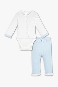 Baby Club         Baby-Outfit - Bio-Baumwolle - gepunktet