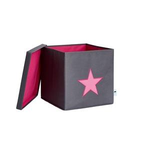 STORE IT Ordnungsbox mit Deckel STERN PINK in Grau