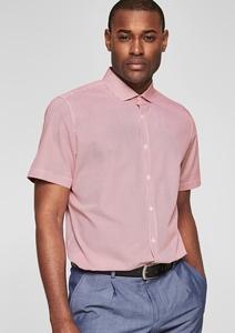 Slim Fit: Gemustertes Kurzarmhemd