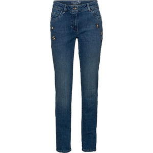 Gerry Weber Collection Damen Jeans mit Steinchen-Applikationen