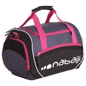 Schwimmtasche Sporttasche Swimy 30 L grau/rosa