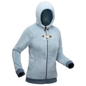 Fleecejacke Winterwandern SH100 Ultra-Warm Damen grau