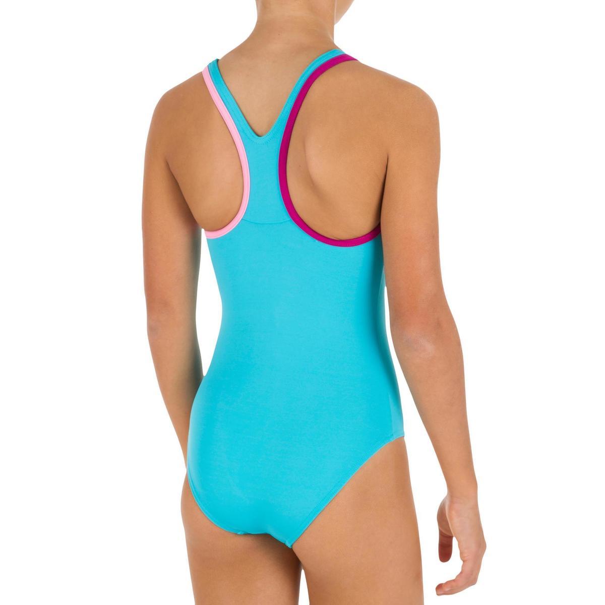 Bild 3 von Badeanzug Leony+ Mädchen blau/violett