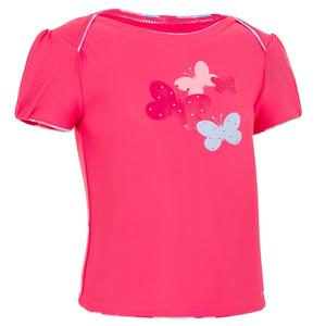Bikini-Oberteil Tankini Top Fly Baby Mädchen Print Schmetterling rosa
