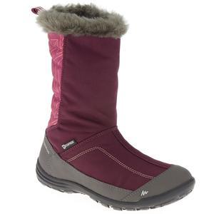 Schneestiefel Winterwandern SH500 Warm wasserdicht Kinder violett