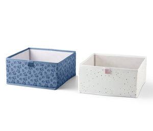 2 Schubladen-Ordnungsboxen, quadratisch