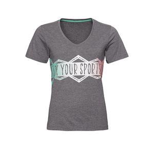 Damen-Fitness-T-Shirt mit großem Frontaufdruck