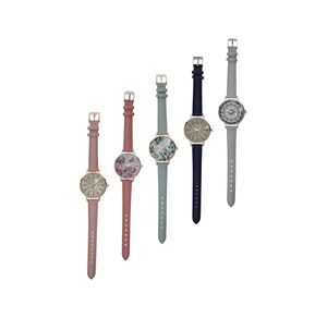 Damen-Armbanduhr mit schickem Druck