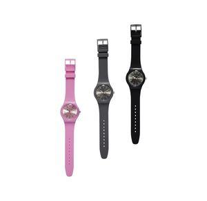 Damen-Armbanduhr mit Silikon-Armband