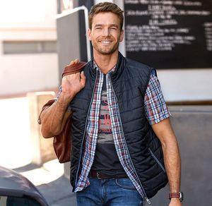 Reward classic Herren-Steppweste mit Reißverschluss-Taschen