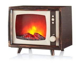 "LED-Minikamin ""Vintage TV"" mit Flammeneffekt"