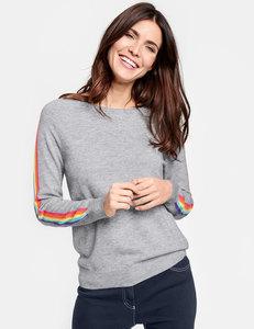 Pullover mit Regenbogenstreifen