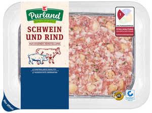 Hackbraten aus Schweinefleisch mit Rindfleisch