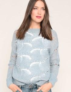 My Own - Ajour-Pullover mit Perlen
