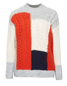 Esprit - Grobstrick-Pullover im Color-Block Design