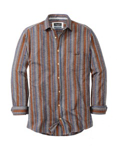 Bexleys man - Flanellhemd, langarm, gestreift
