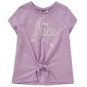 Mädchen T-Shirt mit Knoten-Detail