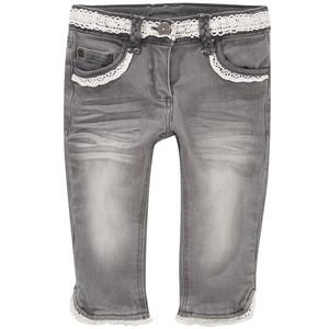 Mädchen Capri-Jeans mit Spitze