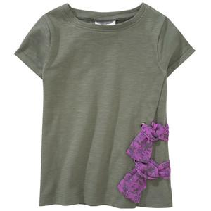 Mädchen T-Shirt in Wickeloptik