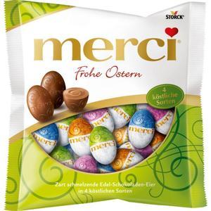 Merci Frohe Ostern Edel-Schokoladen-Eier 4 köstliche So 1.66 EUR/100 g