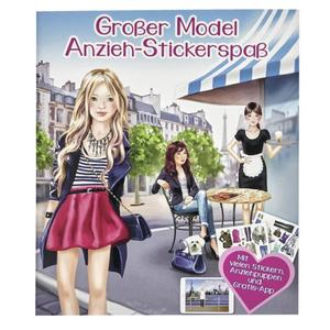 IDEENWELT Stickerbuch großer Model Anzieh-Stickerspaß