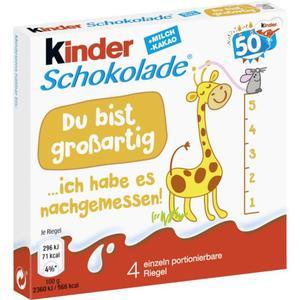 Ferrero Kinder Schokolade 1.38 EUR/100 g