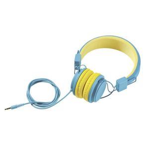 IDEENWELT Kinder-Kopfhörer türkis/gelb
