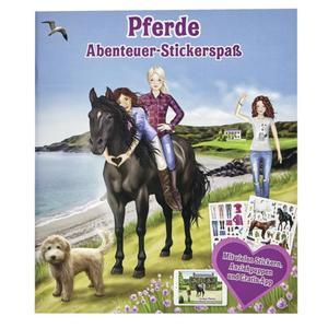 IDEENWELT Stickerbuch Pferde Abenteuer-Stickerspaß
