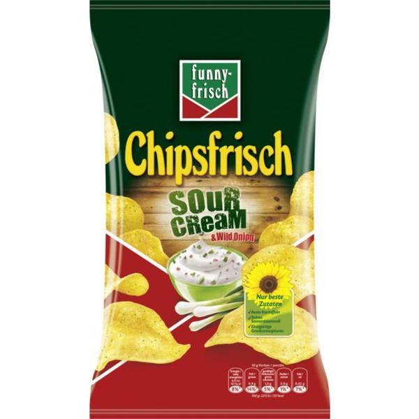 funny-frisch Chipsfrisch Sour Cream & Wild Onion 0.79 EUR/100 g