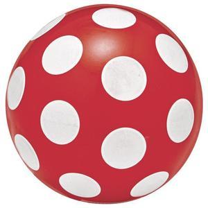 IDEENWELT Ball rot/weiß gepunktet