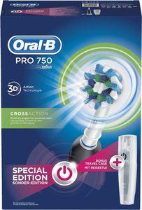 Oral-B PRO 750 Black mit gratis Reiseetui Limitierte Edition