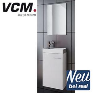 Gäste-WC Badmöbel-Set bestehend aus: - Spiegel (40 x 60 cm) - Unterschrank (H 68 x B 41 x T 22 cm) - Waschbecken aus hochwertiger Keramik (o. Armatur)