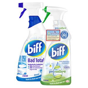 Biff Bad oder WC Reiniger versch. Sorten jede 750-ml Flasche
