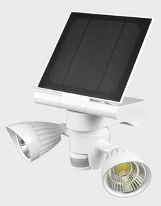 Heitech Solar-LED-Doppel-Außenstrahler mit Bewegungs-/Lichtsensor