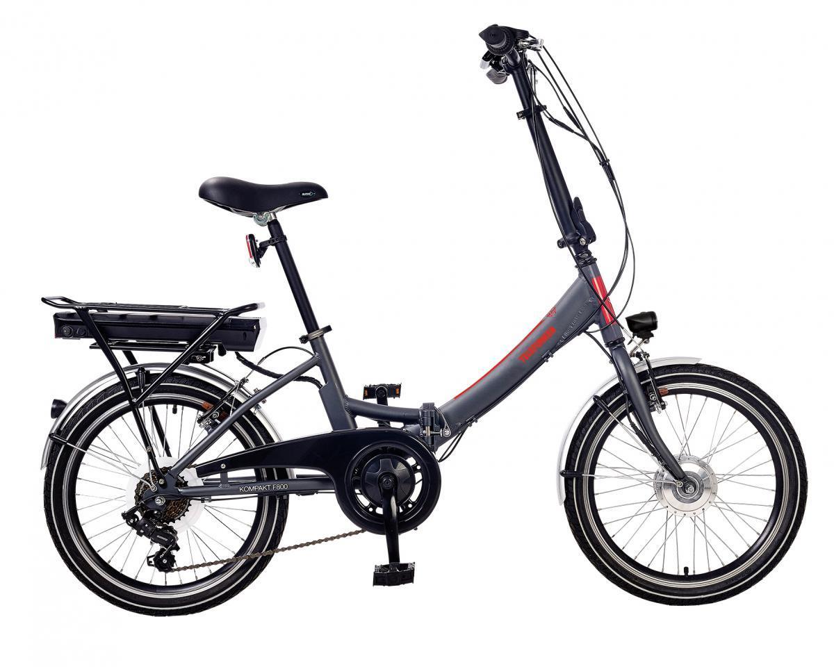 Bild 2 von Telefunken E-Bike F800, Faltrad mit 7 Gang Kettenschaltung