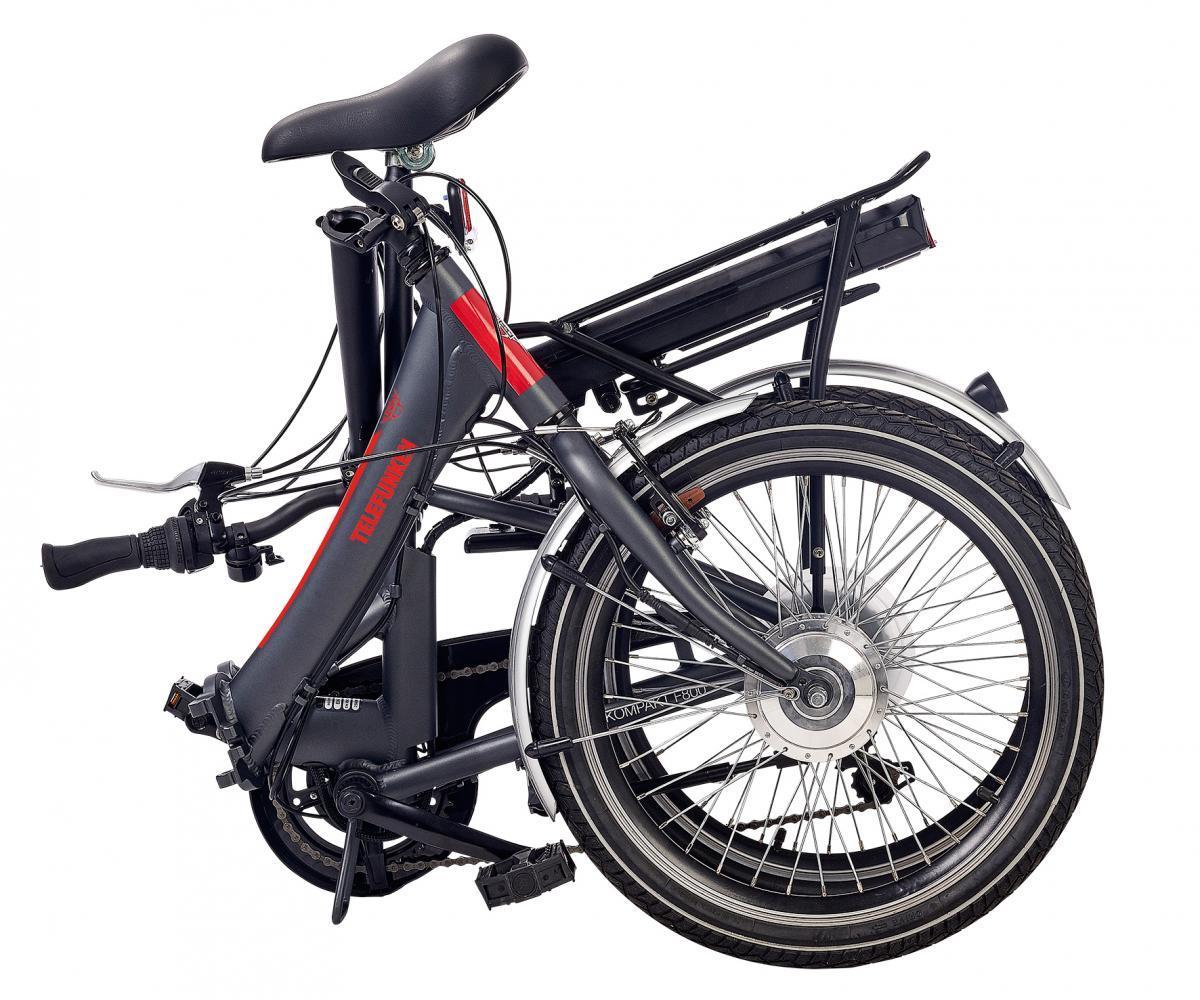 Bild 3 von Telefunken E-Bike F800, Faltrad mit 7 Gang Kettenschaltung