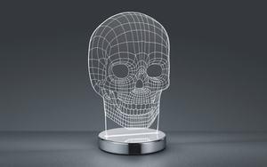Reality Leuchten - LED-Tischleuchte Skull in chromfarbig
