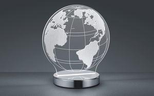 Reality Leuchten - LED-Tischleuchte Globe in chromfarbig/weiß