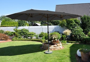 LECO - Oval-Sonnenschirm, Anthrazit