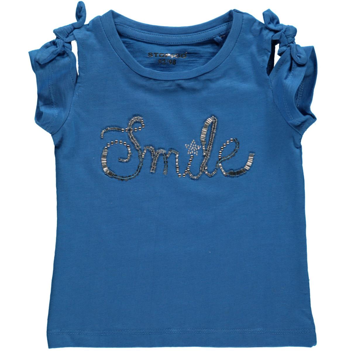 Bild 1 von Mädchen Shirt mit Perlen, Pailletten und Nieten