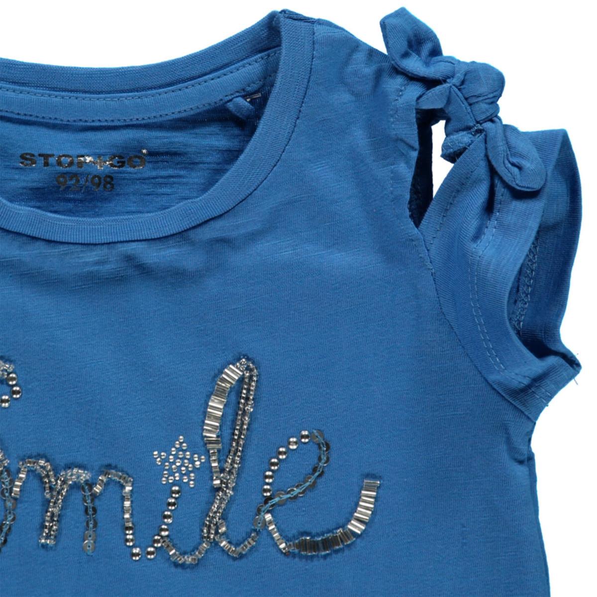 Bild 3 von Mädchen Shirt mit Perlen, Pailletten und Nieten