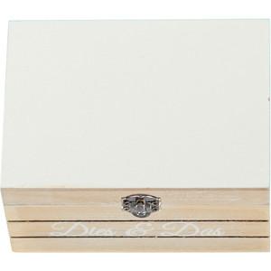 Deko Box mit Metallverschluss und Print 14x10x7cm