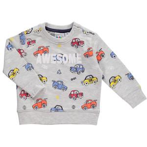 Baby Jungen Sweatshirt mit Autoprint